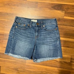 Madewell frayed jean shorts